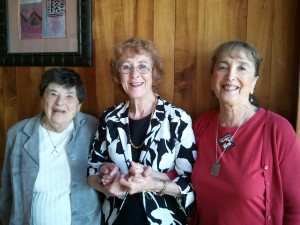 Branch member Sheila Kamhi of the Pro-Choice Coalition, branch President Carol Hershey, and Toni Wellen of Coalition Against Gun Violence. The Coaliton Against Gun Violence and the Pro-Choice Coalition were our branch Named Gift Honorees for AAUW Funds for 2012-13.