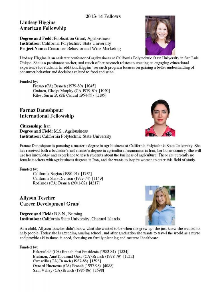 2013-14 Central Coast Fellows
