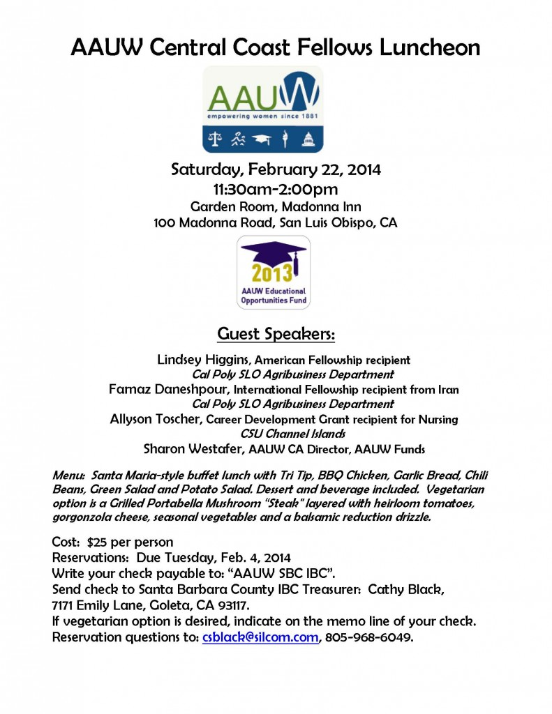 2014 Fellows Luncheon flyer
