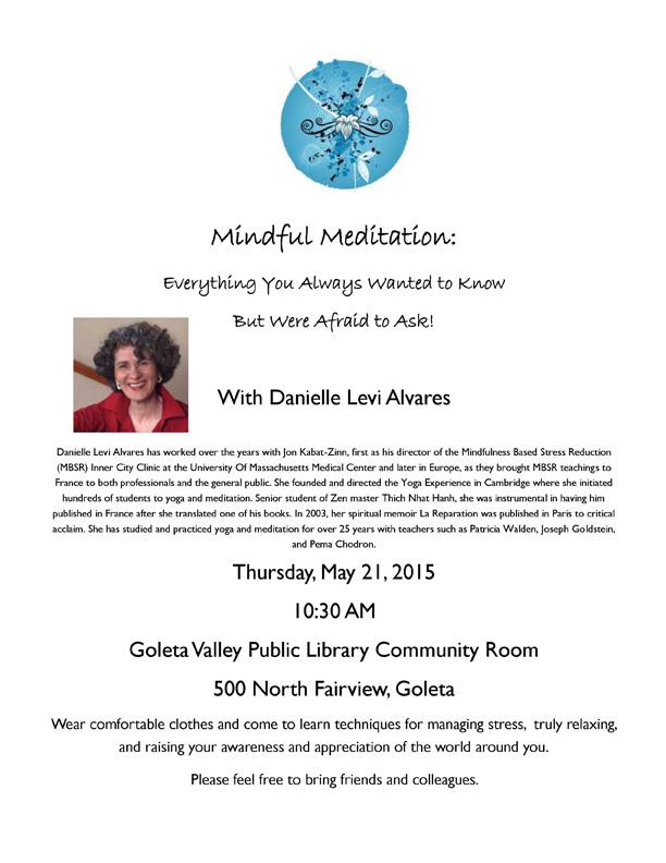 Mindful Meditation Flyer (May 2015)